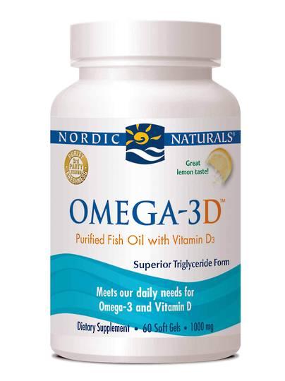 Nordic Naturals Omega 3D Lemon (60 soft gels)