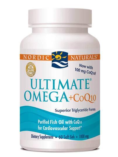 Nordic Naturals Ultimate Omega + CoQ10 (60 soft gels)