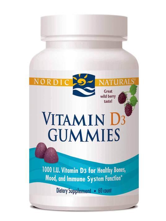 Nordic Naturals Vitamin D3 Gummies (60)