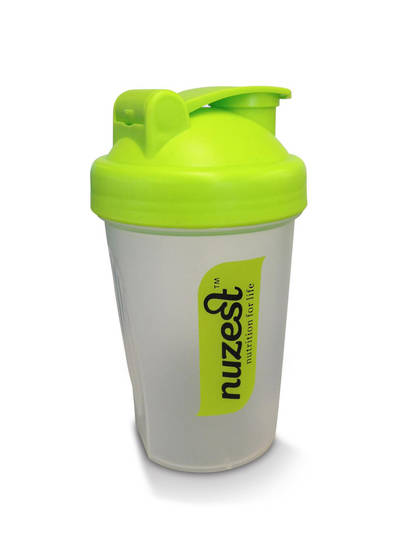 NuZest Shaker BPA free with whisk (450ml or 350ml with snack compartment)