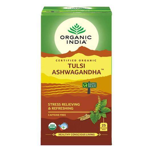 Organic India Tulsi Ashwagandha, 25 tea bags