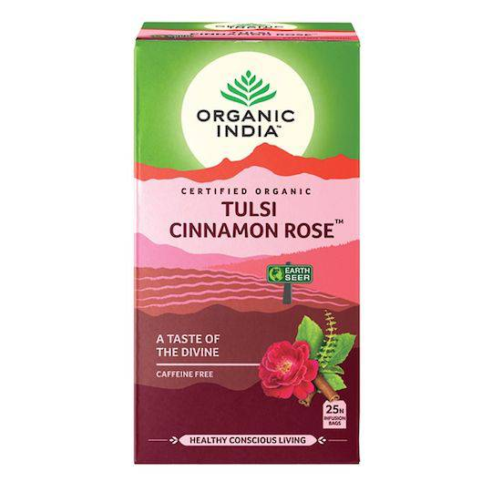 Organic India Tulsi Cinnamon Rose, 25 tea bags