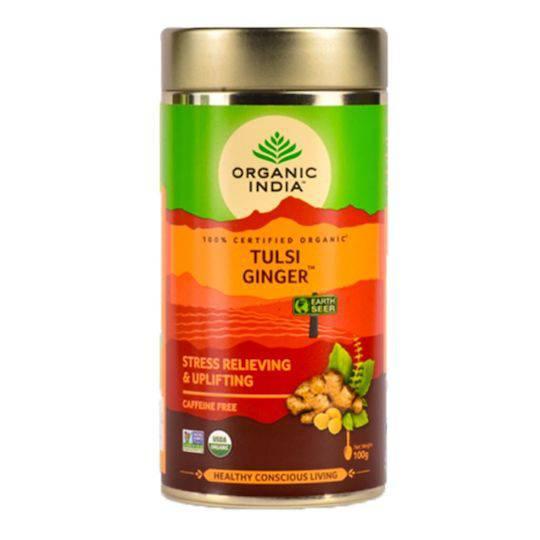 Organic India Ginger, 100g loose leaf tea