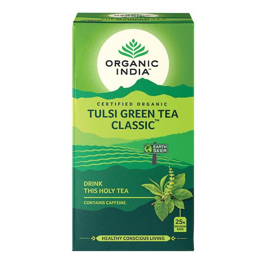 Organic India Tulsi Green, 25 tea bags