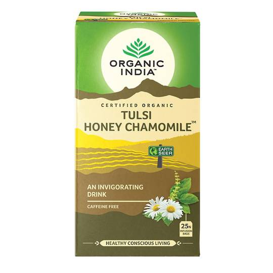 Organic India Tulsi Honey Chamomile, 25 tea bags