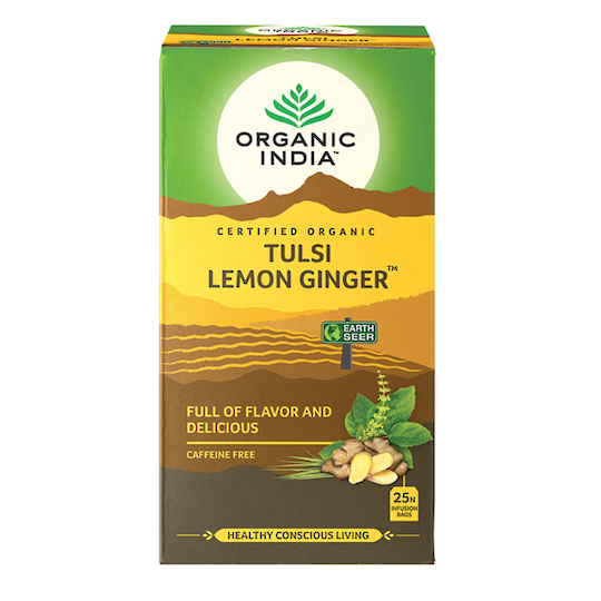 Organic India Tulsi Lemon Ginger, 25 tea bags