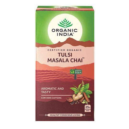 Organic India Tulsi Masala Chai, 25 tea bags