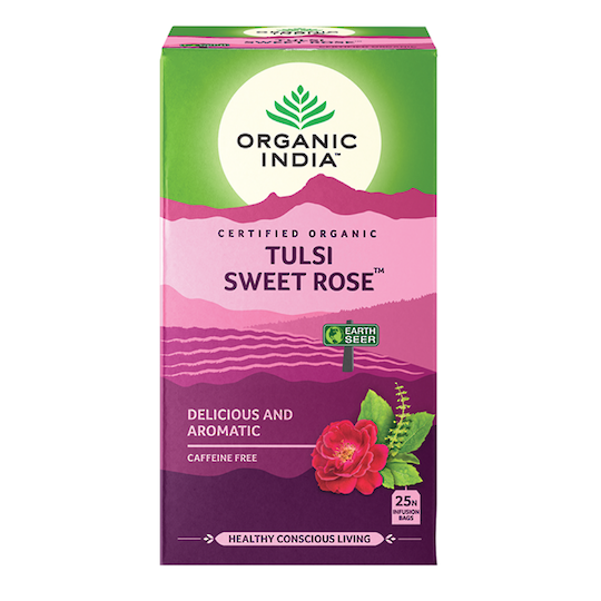 Organic India Tulsi Sweet Rose, 25 tea bags
