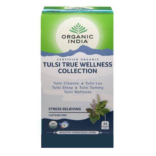 Organic India Tulsi True Wellness Collection, 25 tea bags - Buy 1 Get 1 FREE (best before 04/20)