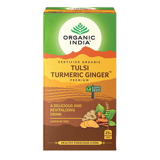 Organic India Tulsi Turmeric Ginger, 25 tea bags