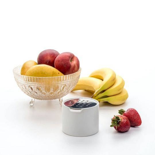 RSVP Endurance Fruit Fly Trap, ceramic/stainless steel