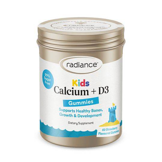 Radiance Kids Calcium + D3, 60 Gummies (best before 07/21)