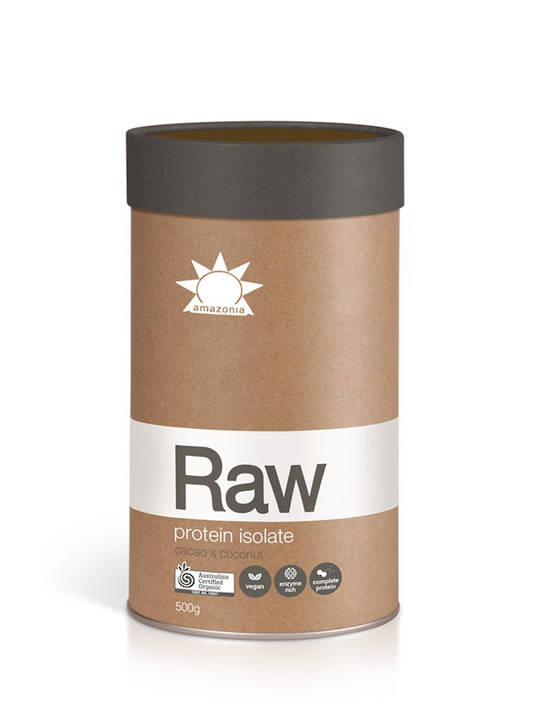 Amazonia Raw Protein Isolate 1kg (Cacao & Coconut), Natural or Vanilla
