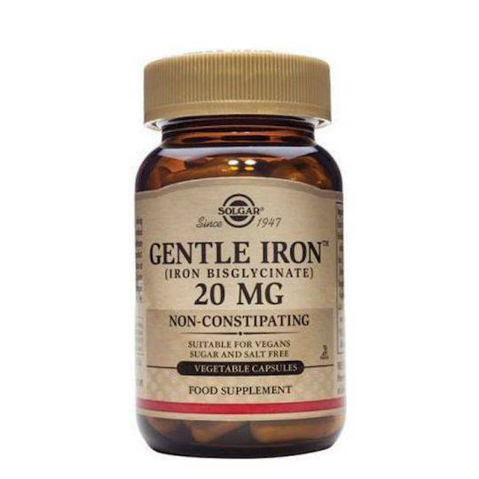 Solgar Gentle Iron 20mg, 30 Capsules