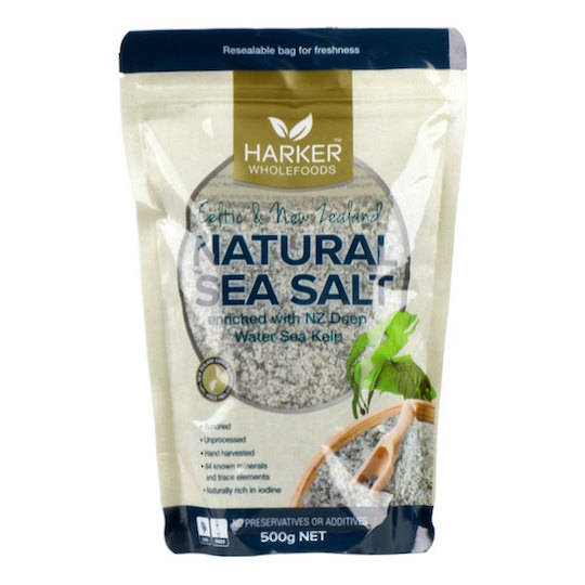 Harker Herbals Celtic & NZ Sea Salt with Kelp (1022), 500g