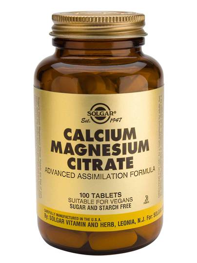Solgar Calcium Magnesium Citrate (50 or 100 Tablets)