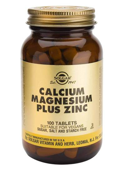 Solgar Calcium Magnesium Plus Zinc (100 Tablets)