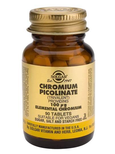 Solgar Chromium Picolinate 200mcg (90 Capsules)