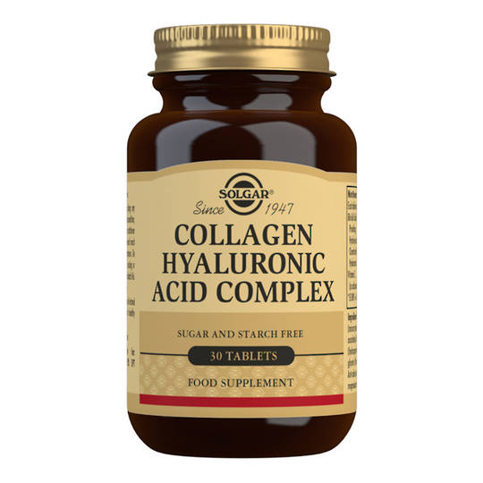 Solgar Collagen Hyaluronic Acid Complex 120mg  (30 Tablets)