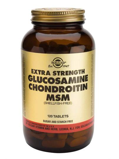 Solgar Extra Strength Glucosamine Chondroitin MSM - 60 or  120 Tablets - (shellfish free)