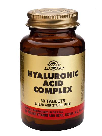 Solgar Hyaluronic Acid Complex 120mg (30 Tablets) best before 06/21