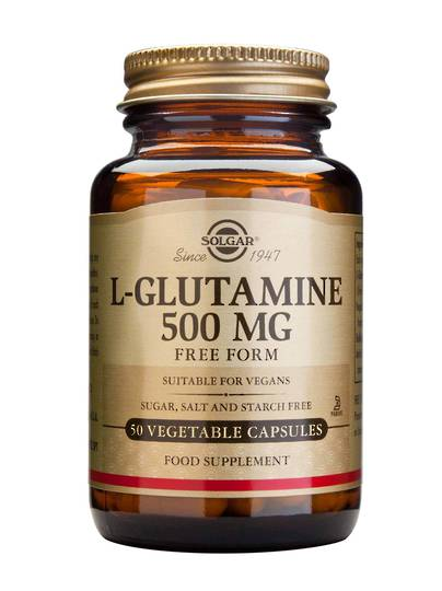 Solgar L-Glutamine 500mg, 50 Vegetable Capsules