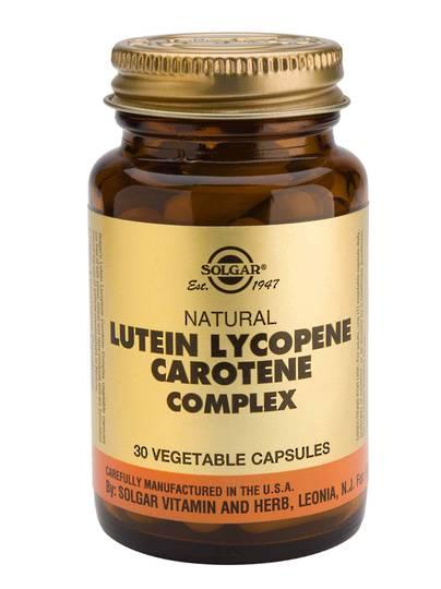 Solgar Lutein Lycopene Carotene Complex (30 Vegetable Capsules)