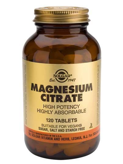 Solgar Magnesium Citrate , (120 tabs)