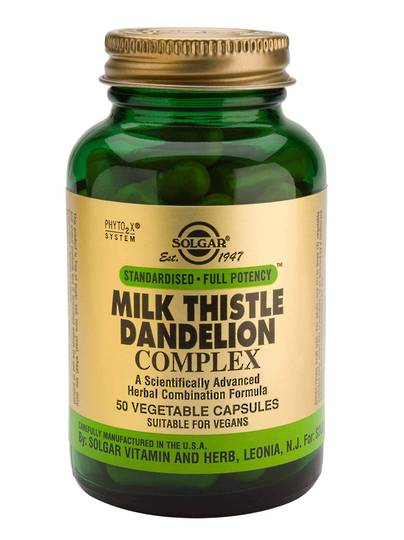 Solgar Milk Thistle Dandelion Complex (50 Vegetable Capsules)