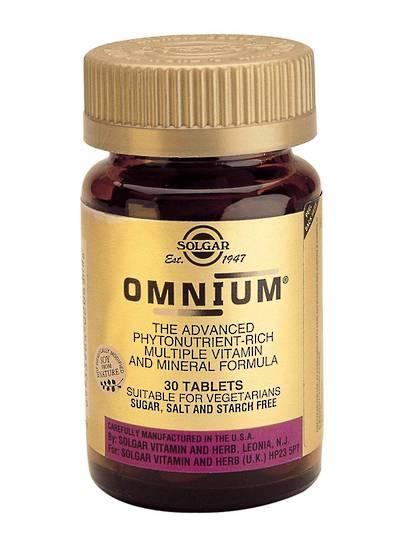 Solgar Omnium Multi-Nutrient, 30 & 90 Tablets