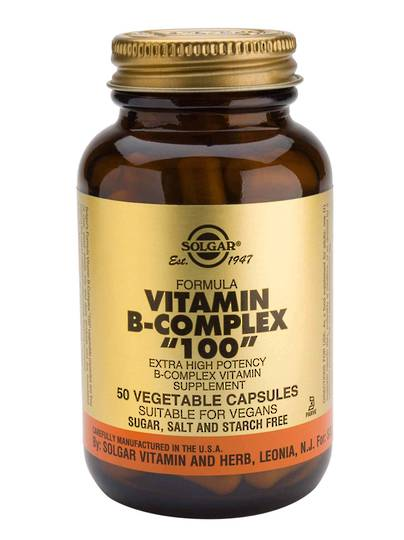 "Solgar Vitamin B Complex ""100"" , 50 Vegetable Capsules"
