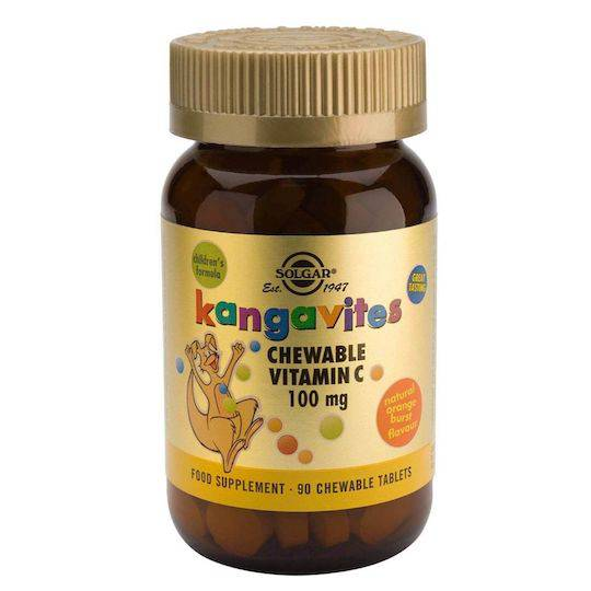 Solgar Kangavites (Children's Vitamin C) - Orange, 90 Chewable Tablets