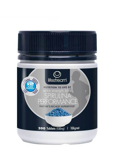 Lifestream Extra Strength Blue Spirulina Performance, 200 & 500 Tablets