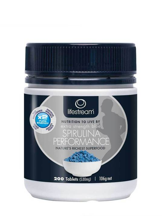 Lifestream Extra Strength Blue Spirulina Performance, 200 & 500 Tablets
