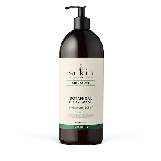 Sukin Organics Botanical Body Wash, 1L Pump or Refill