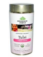 Organic India Tulsi Sweet Rose Tea - Loose Leaf 100g Canister