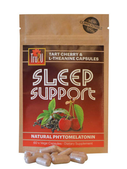 Tru2U Sleep Support Tart Cherry Skins & L-Theanine, 60 Capsules