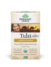 Organic India Tulsi Lemon Ginger Tea