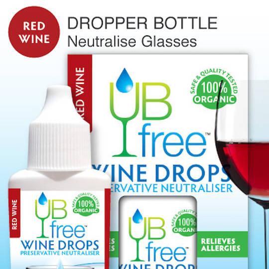UB Free Red Wine Sulphite Neutraliser Drops, 8ml