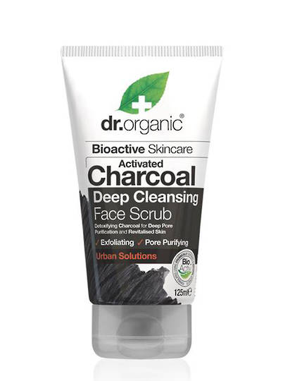 Dr. Organic Charcoal Deep Cleansing Face Scrub, 125ml