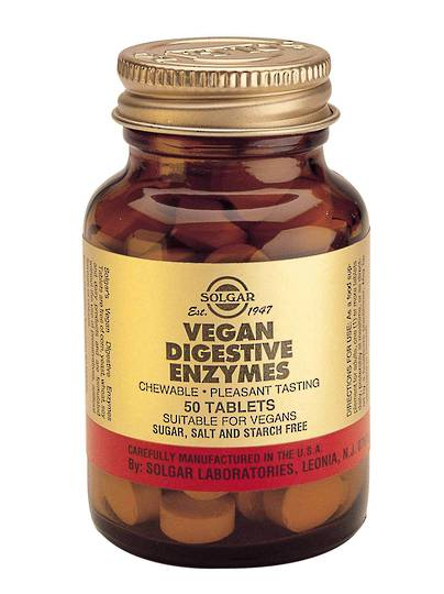 Solgar Vegan Digestive Enzyme,  (50 Tablets)