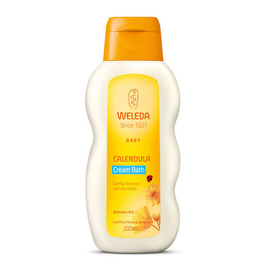 Weleda Calendula Baby Cream Bath, 200ml (best before 02/21)