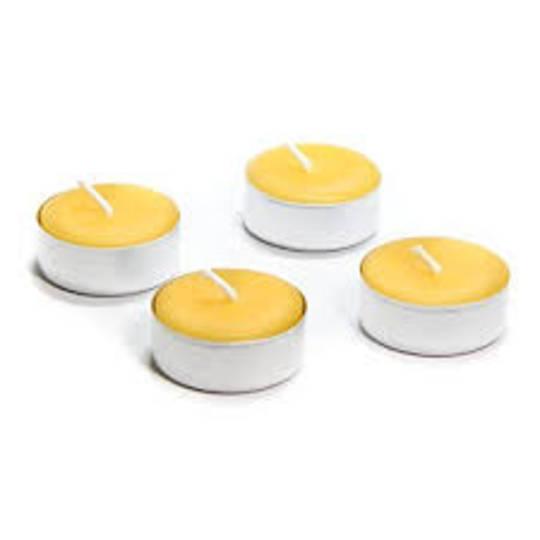 Bees Wax Tea Lights, single in cup