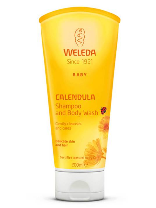 Weleda Calendula Shampoo and Body Wash, 200ml
