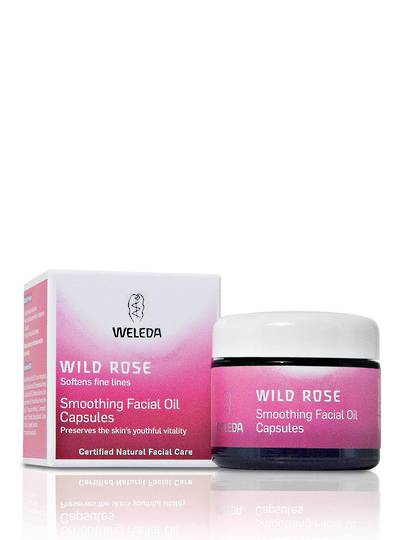 Weleda Wild Rose Smoothing Facial Oil Capsules, 30 caps
