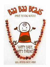 Baa Baa Beads Amber Teething Necklace, Honey Coloured.