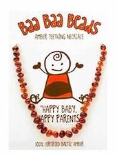 Baa Baa Beads Amber Teething Necklace, Honey Coloured.