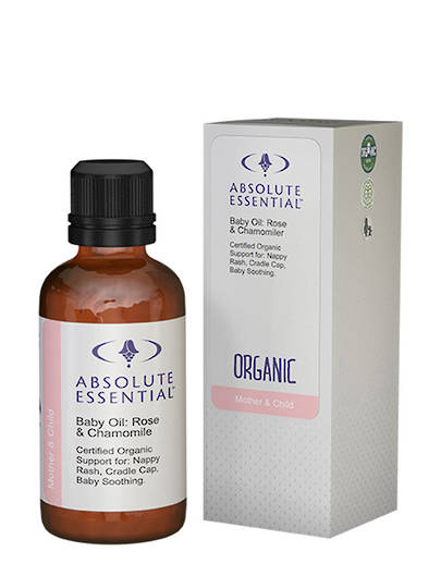 Absolute Essential Baby Oil: Rose & Chamomile (Organic), 50ml