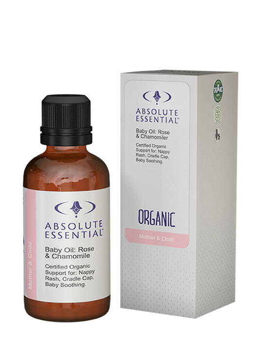 Absolute Essential Organic Baby Oil: Rose and Chamomile, 50ml