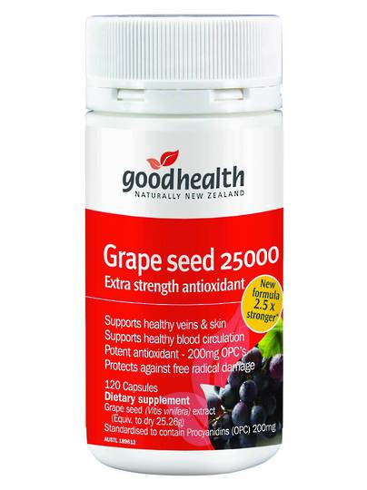 Good Health Grape Seed 25000, 120 Capsules